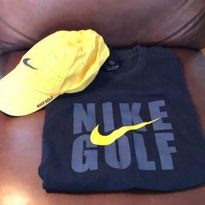Nike Golf Hat & XL T-Shirt Set